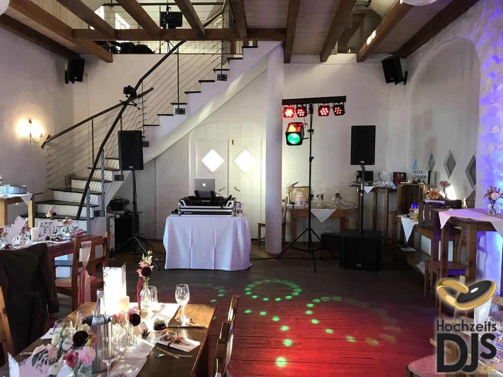 Aufbau DJ Paket Elegance mit LED Bar