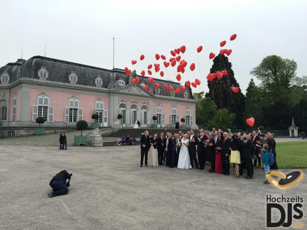 Herzen Ballons Hochzeit
