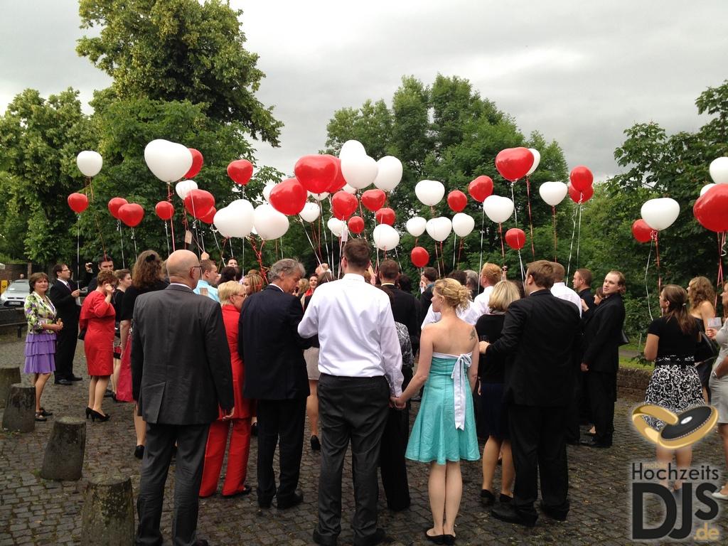 Herzen Ballons Hochzeitsgäste