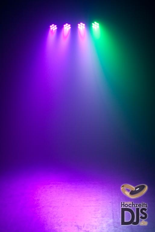 LED Lichtbahr auf Hochzeitsfeier