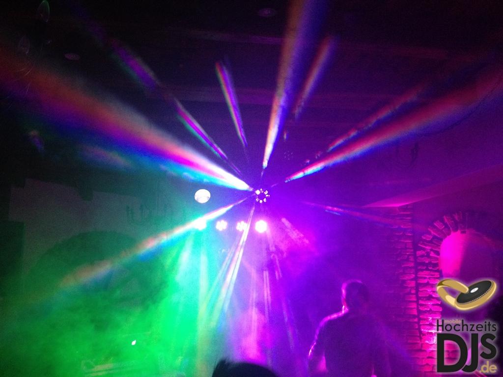 LED Lichteffekt mit Nebel