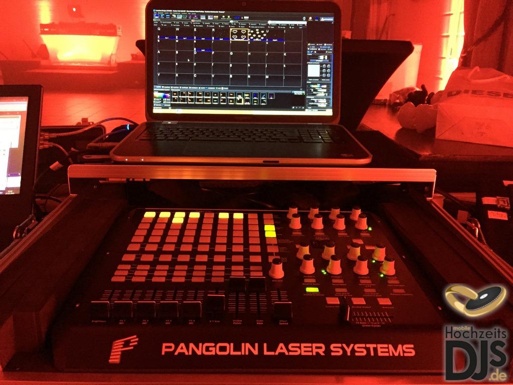 Bedienung Laser