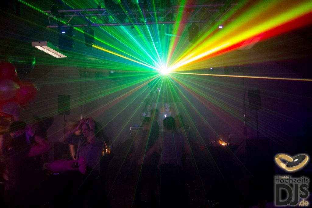 Lasershow Hochzeitsfeier