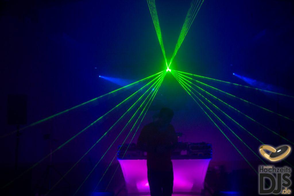 Lasershow für Brautpaar
