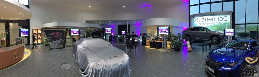 LED Screen bei Eröffnung