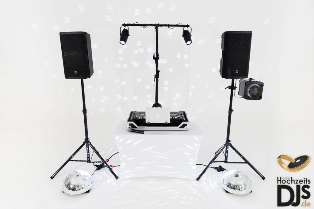 Halbpiegelkugeln mit DJ Paket Basic