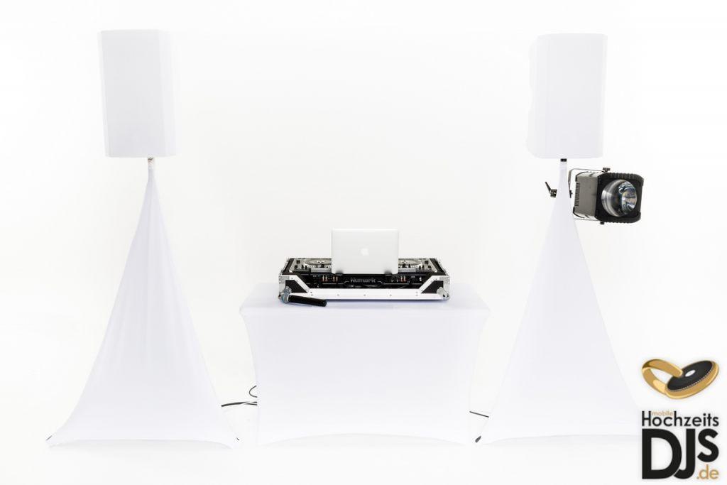 White-Wedding-Paket mit DJ Paket Basic