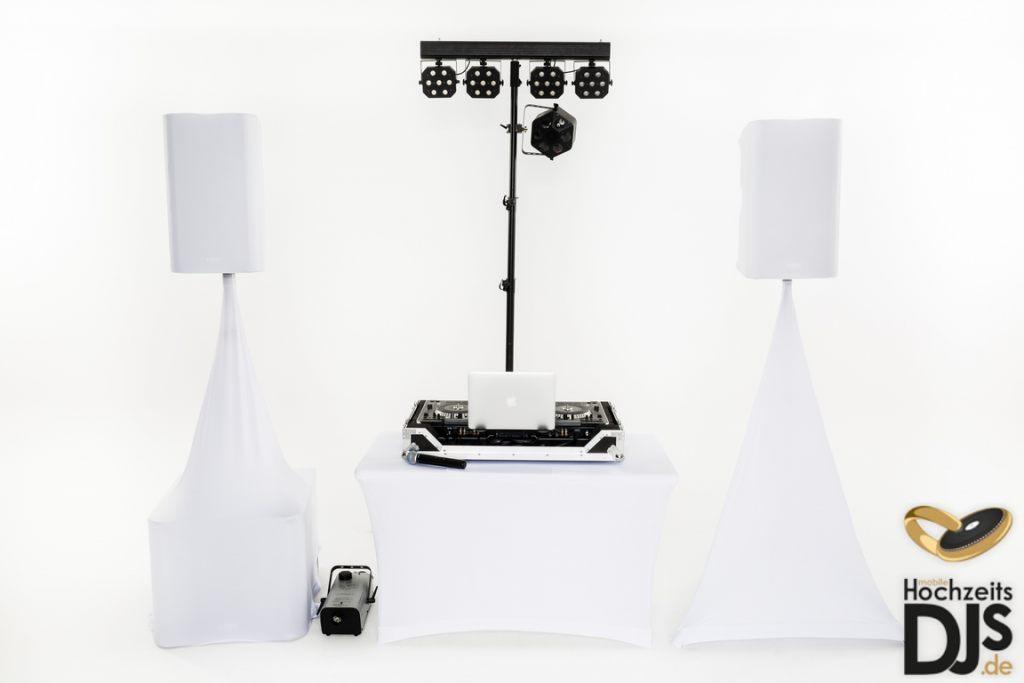 White-Wedding-Paket mit DJ Paket Elegance