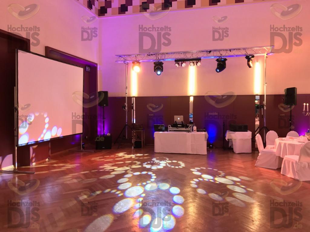 Aufbau DJ Paket Superior A in den Rheinterrassen Düsseldorf