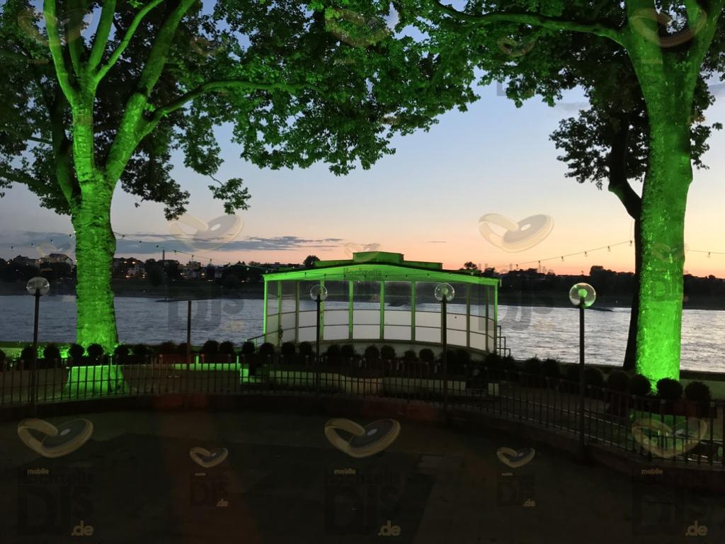 Outdoor Beleuchtung in den Rheinterrassen Düsseldorf