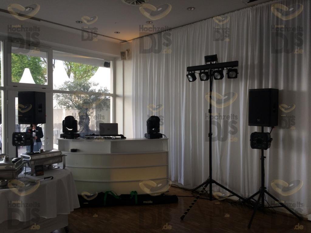 Aufbau DJ Paket Elegance in den Rheinterrassen Köln