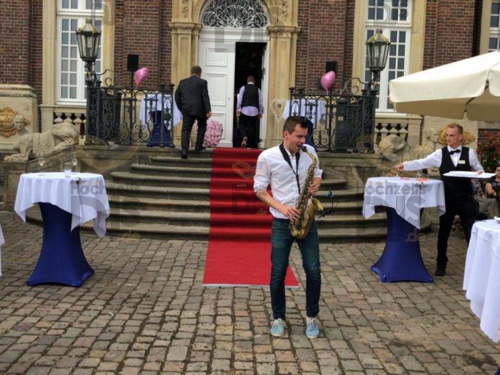 Empfang mit Saxophonist im Schloss Nordkirchen