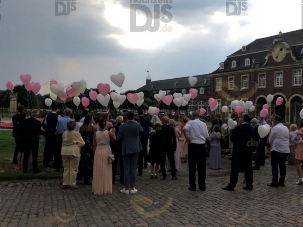 Helium Ballons im Schloss Nordkirchen