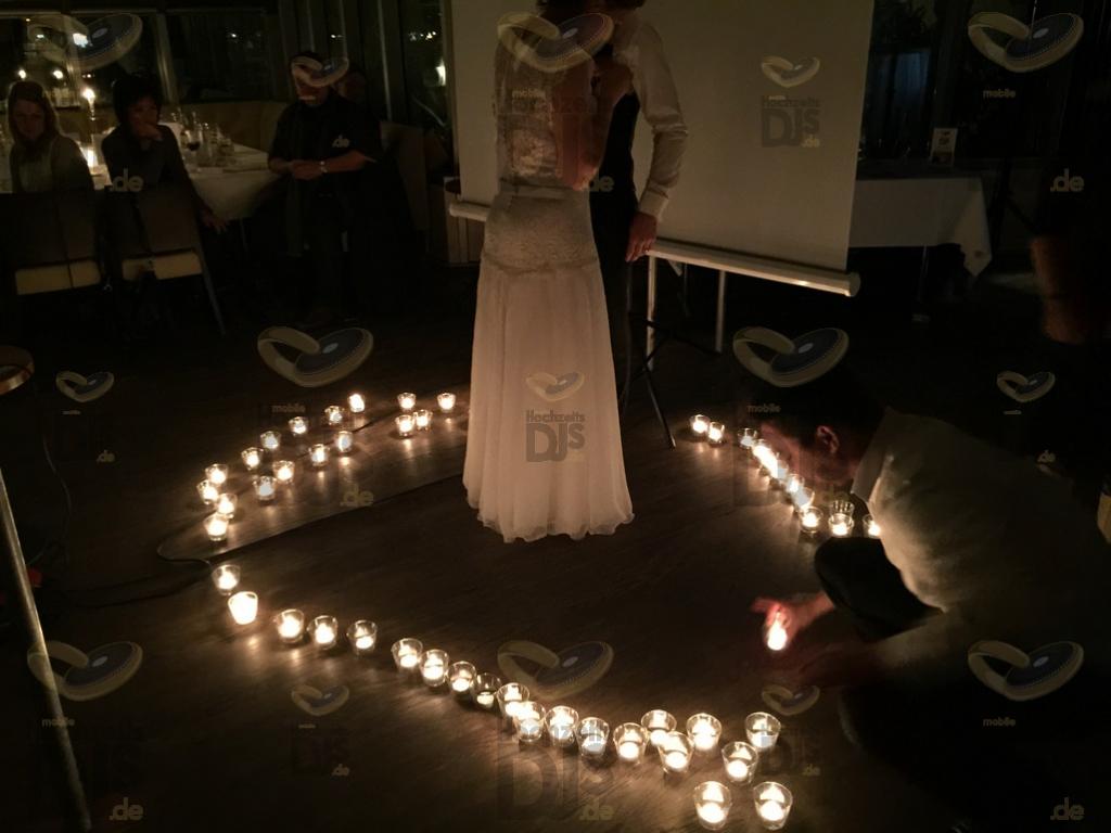 Kerzen im Hotel Schnellenburg Düsseldorf