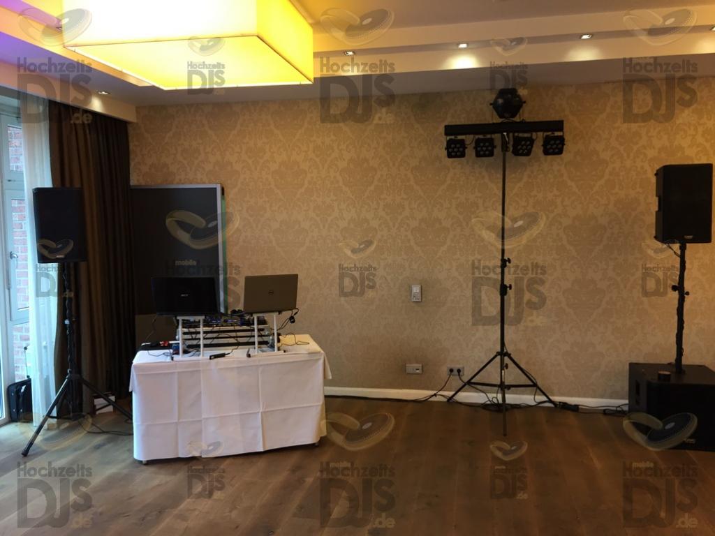 Aufbau DJ Paket Elegance im Wellings Parkhotel Kamp-Lintfort