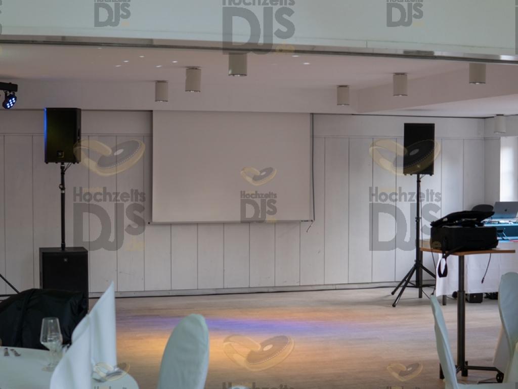 Aufbau DJ Paket Elegance im Mattlerhof Duisburg