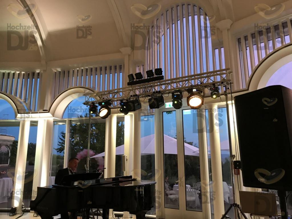 Aufbau DJ Paket Superior A im Steigenberger Petersberg Bonn Königswinter