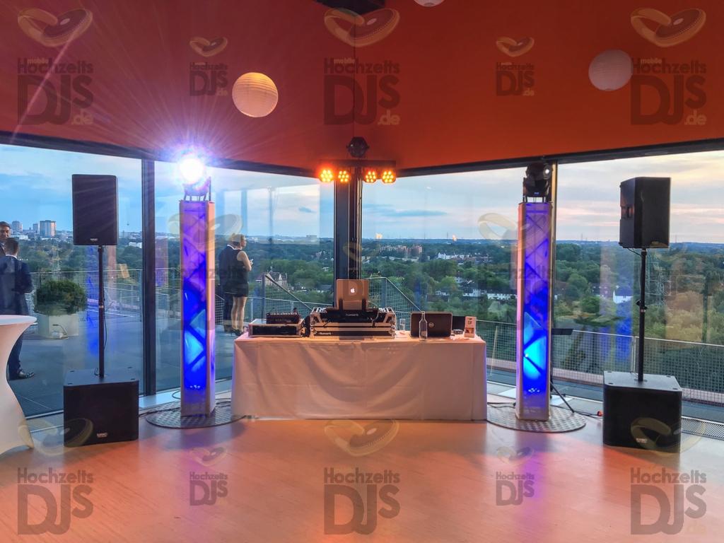 Aufbau DJ Paket Superior B im Erich Brost Pavillon Essen