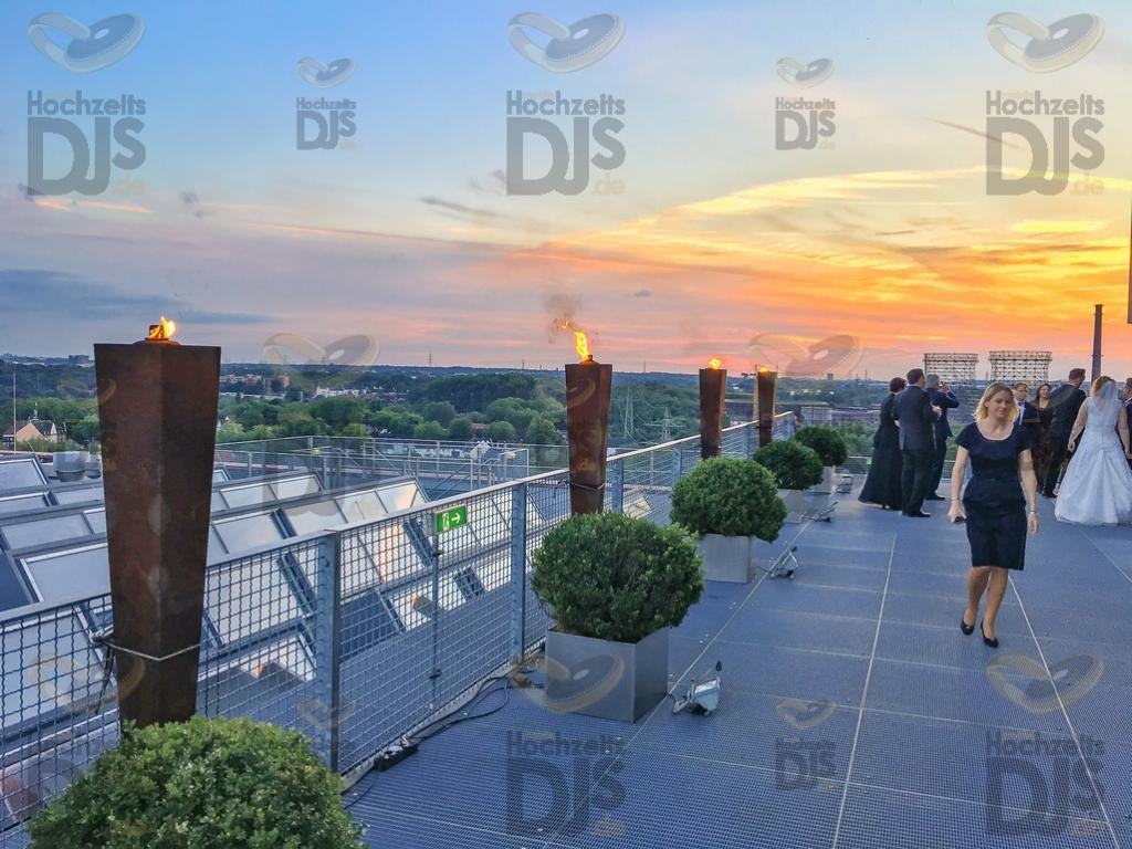 Terrasse im Erich Brost Pavillon Essen