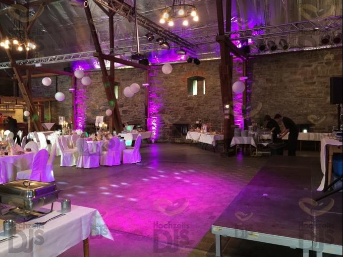 Floorspots in der Festscheune des Haus Kemnade