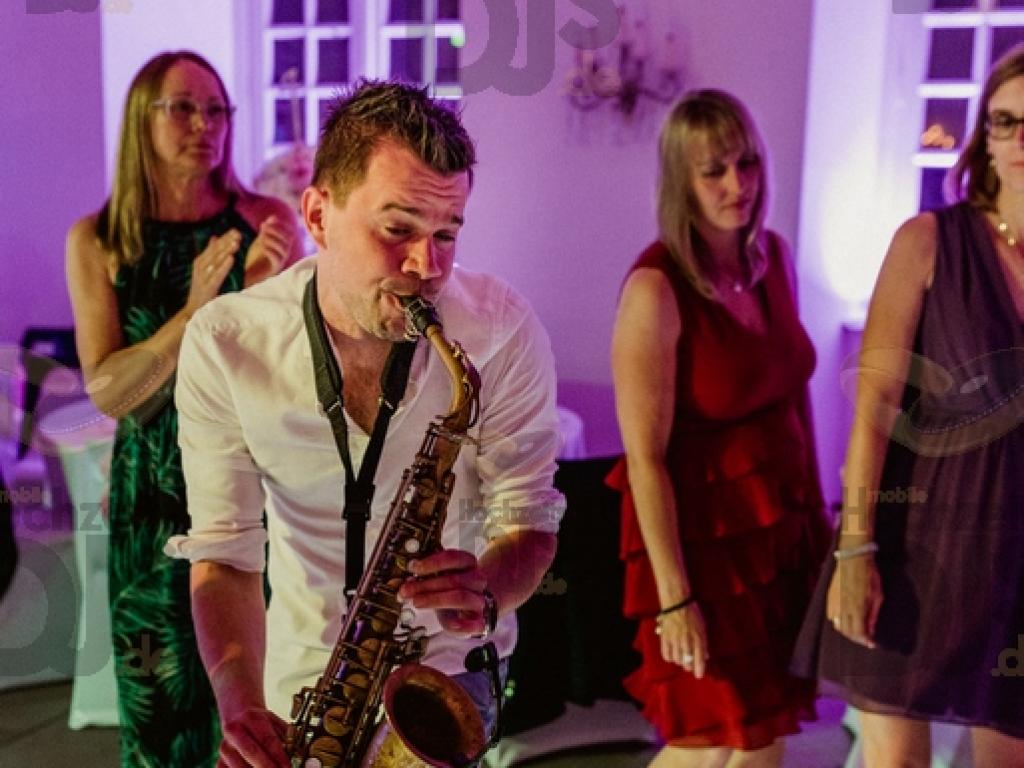 Saxophonist im Schloss Herten