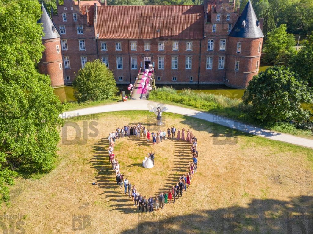Drohnenfoto im Schloss Herten
