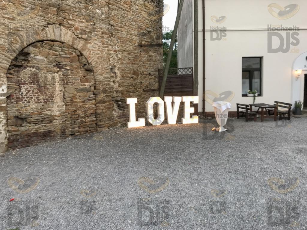 Marquee Buchstaben im Schloss Steinhausen Witten