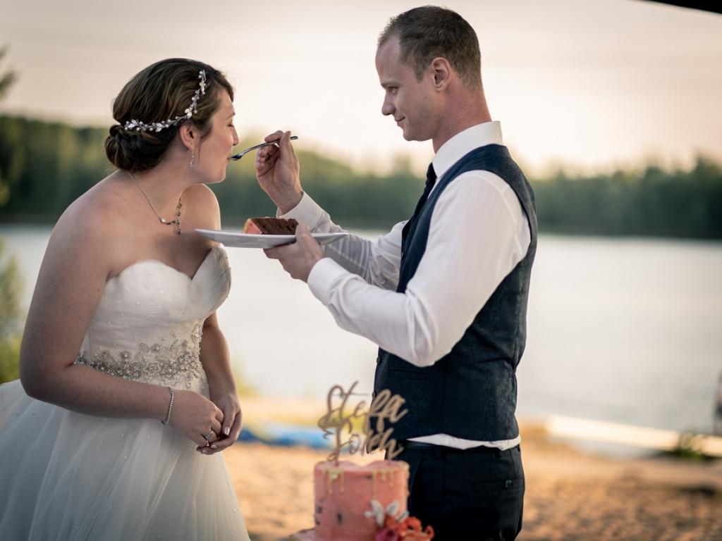 Hochzeitstorte am Sandhofsee Neuss