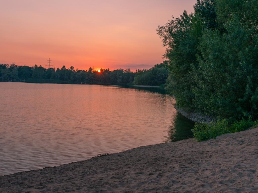 Sonnenuntergang am Sandhofsee Neuss