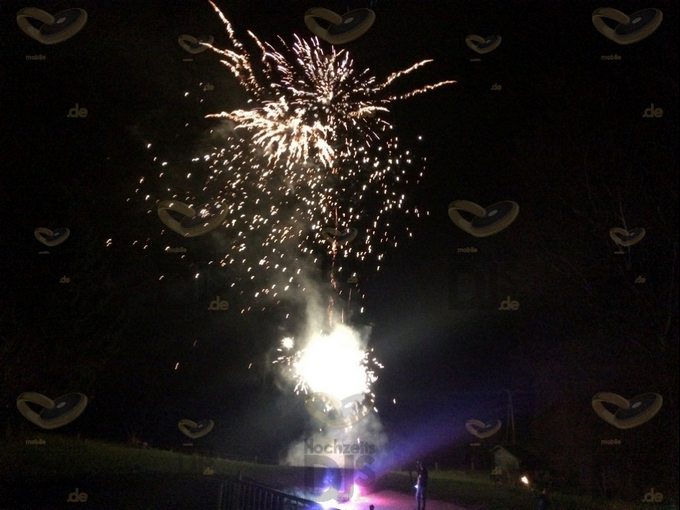 Feuerwerk auf dem Landgut Stuettem