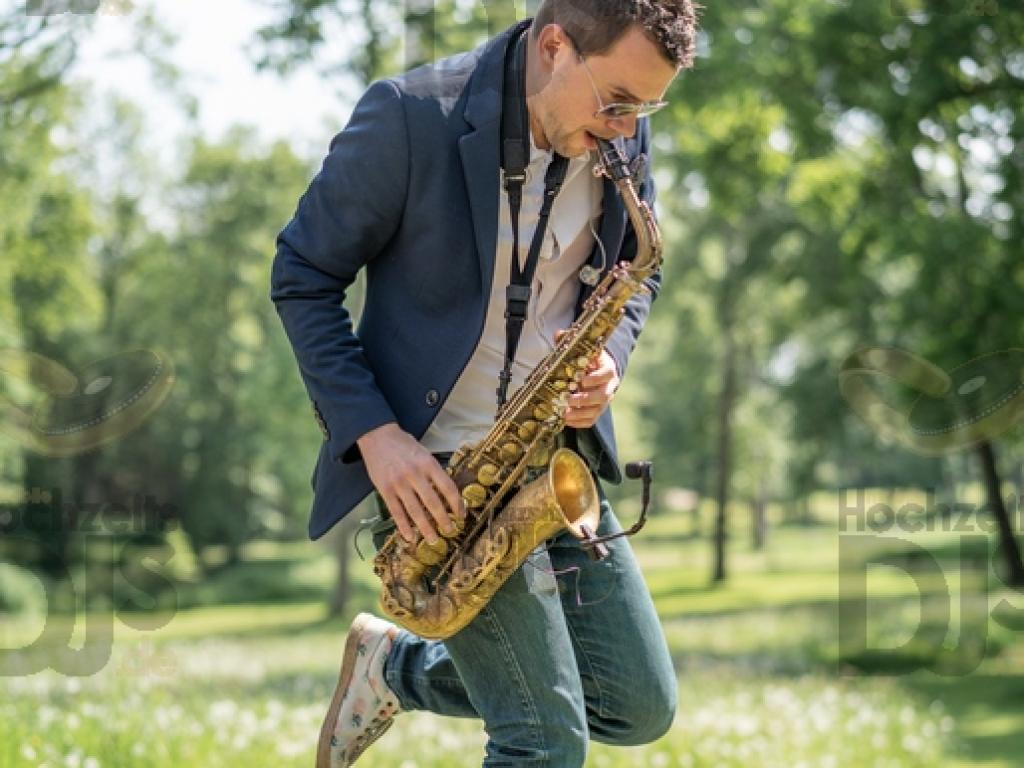 Saxophonspieler im Rittergut Orr