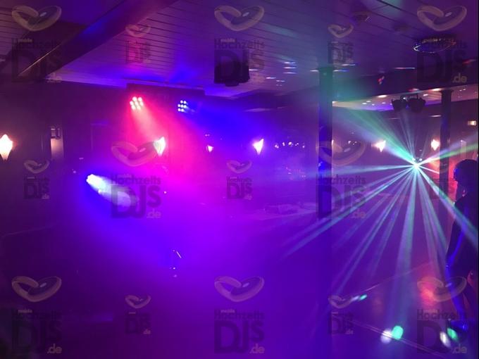 Lichttechnik mit Nebel auf der MS Riverstar