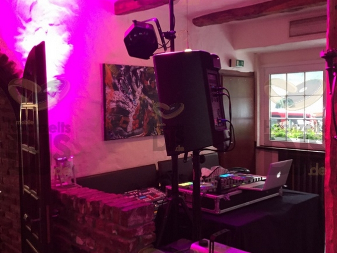 Aufbau DJ-Paket Elegance im Schevener Hof