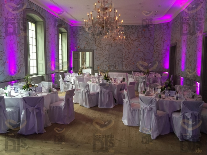 Ambiente mit Floorspots in Schloss Benrath