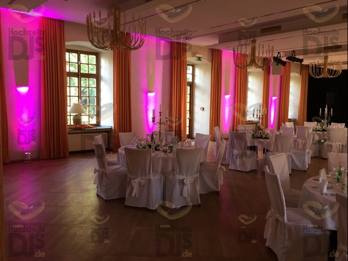 Ambiente mit Floorspots in Schloss Borbeck