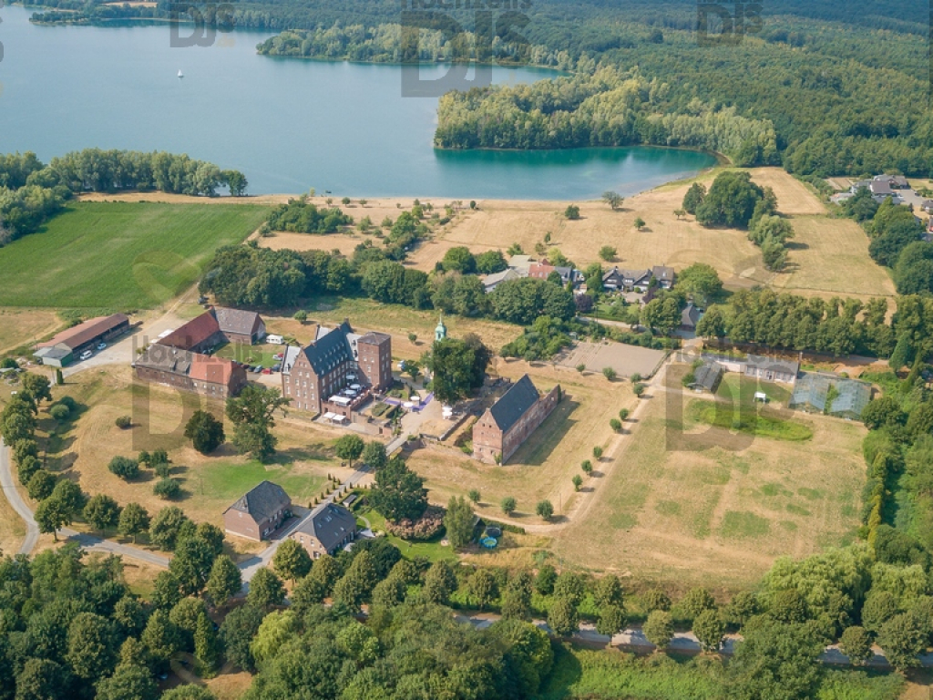 Schloss Diersfordt Felder von oben