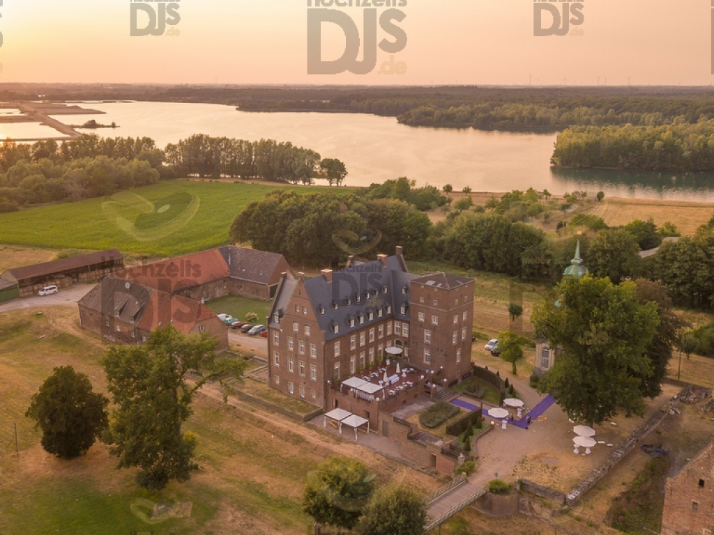Schloss Diersfordt von oben