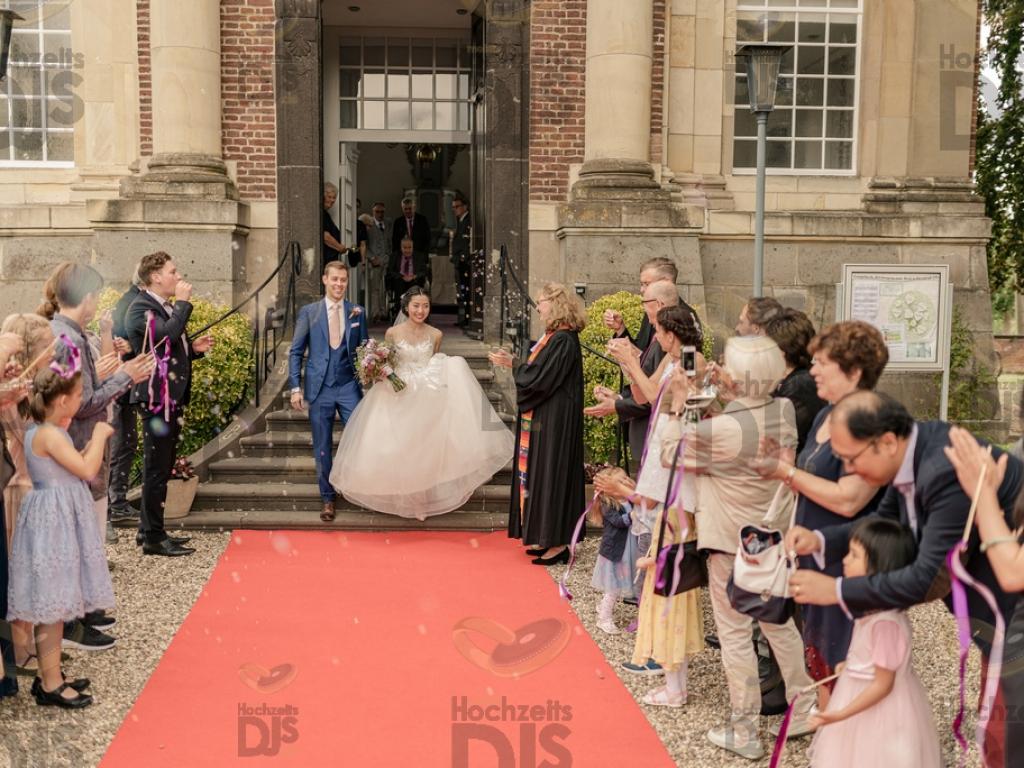 Brautpaar im Schloss Diersfordt