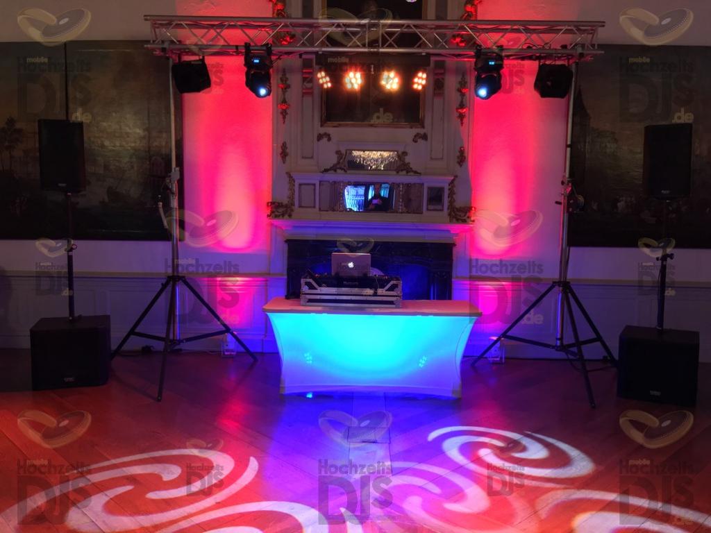 Aufbau DJ-Paket Superior A im Schloss Dyck
