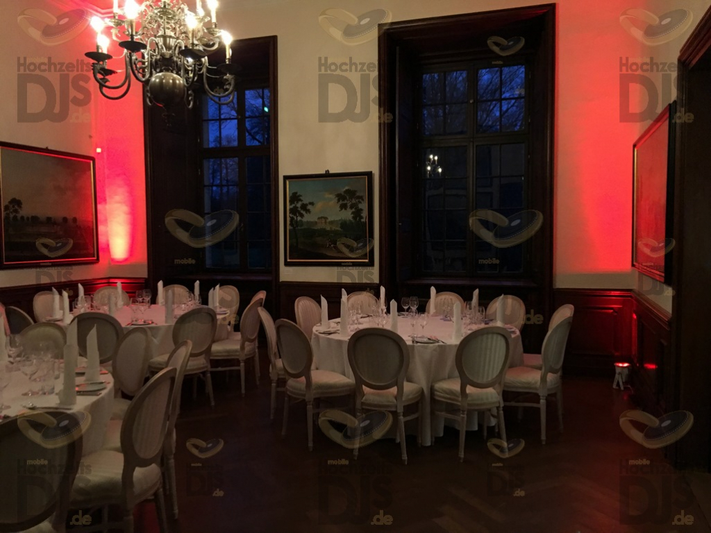 Ambiente mit Floorspots im Schloss Dyck