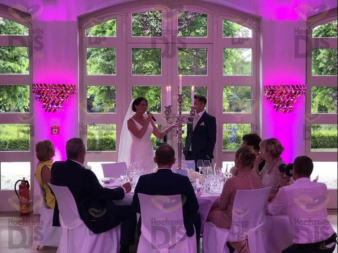Rede des Brautpaares in Schloss Gartrop