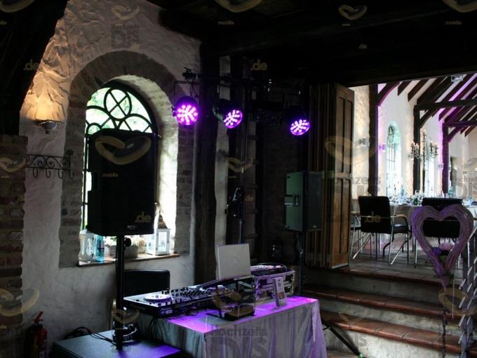 Aufbau DJ-Paket Elegance in Schloss Gruenewald