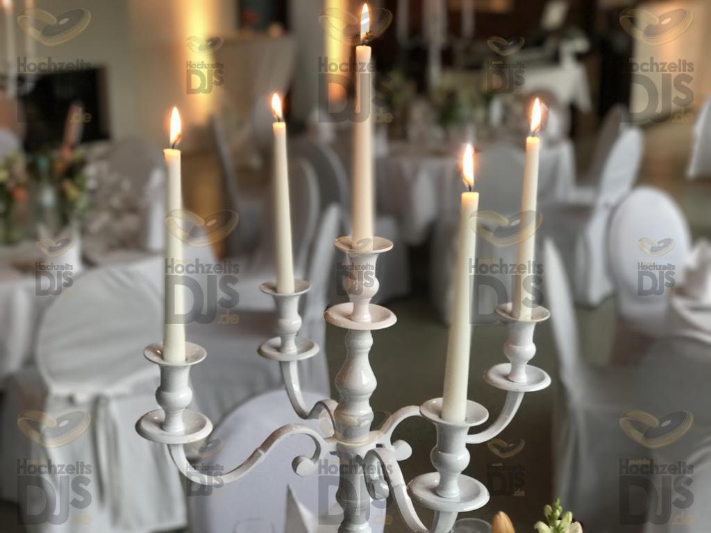 Tischdekoration in Schloss Linnep