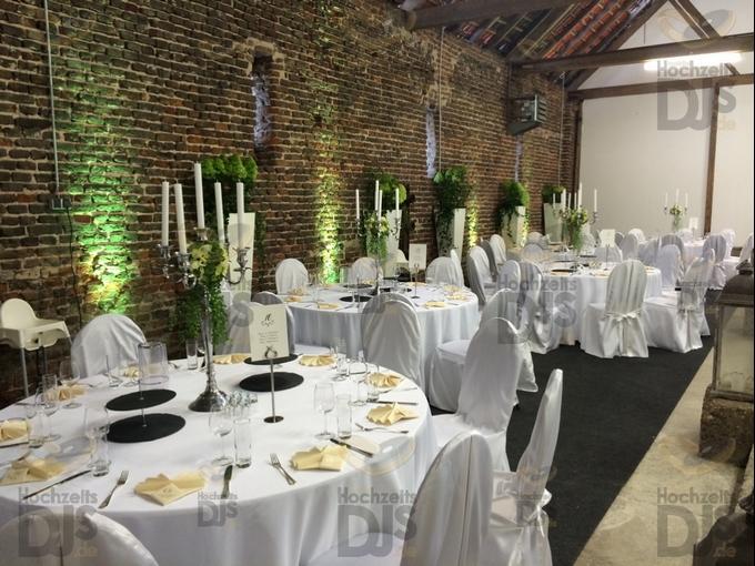 Ambiente mit Floorspots in Schloss Meierhof
