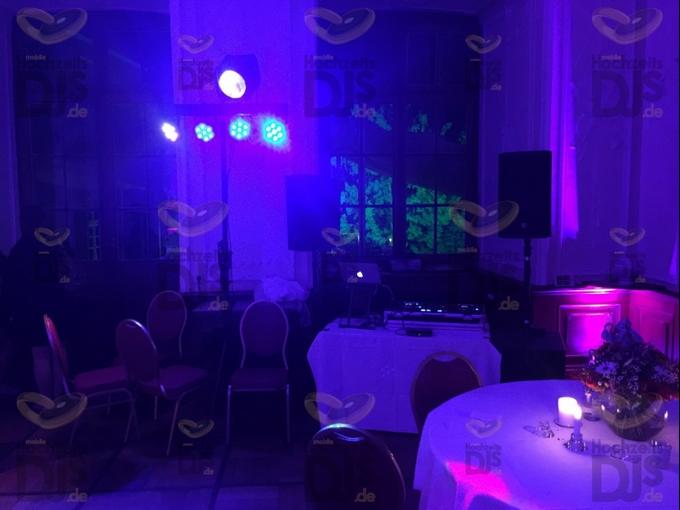 Aufbau DJ-Paket-Elegance in Schloss Schellenberg
