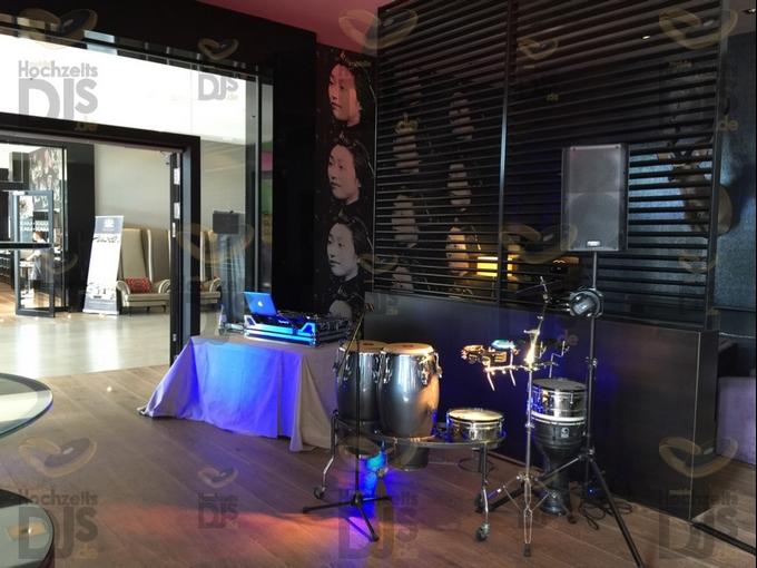 Aufbau DJ-Paket Elegance im Van der Valk Duesseldorf