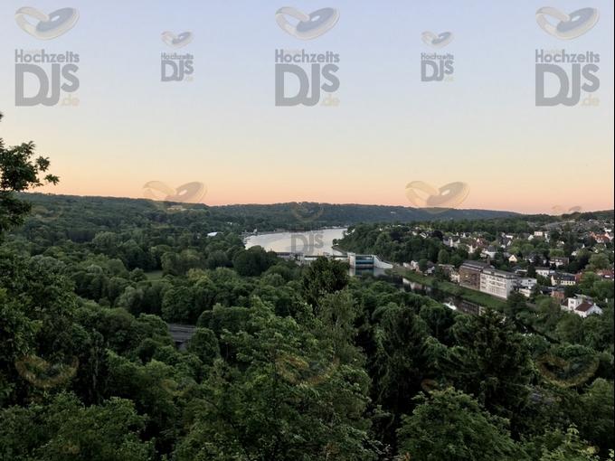 Ausblick auf den Baldeneysee der Villa Vue