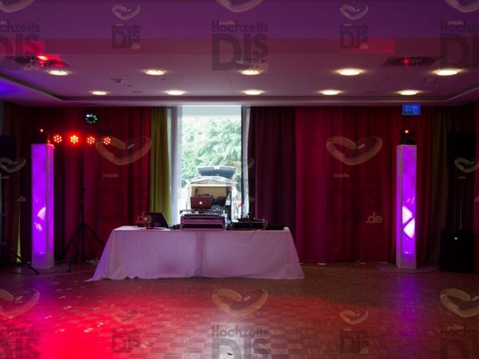 Aufbau DJ-Paket Superior B im Golfhotel Vesper
