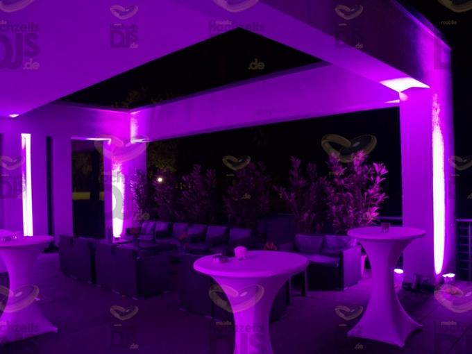Loungebereich mit Floorspots im Golfhotel Vesper