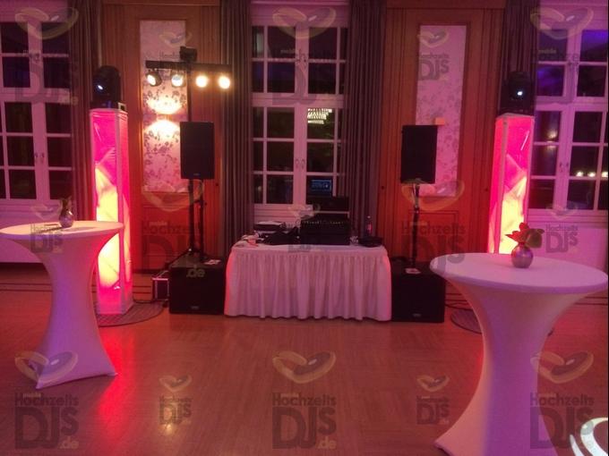 Aufbau DJ-Paket Superior B im Bayer Kasino